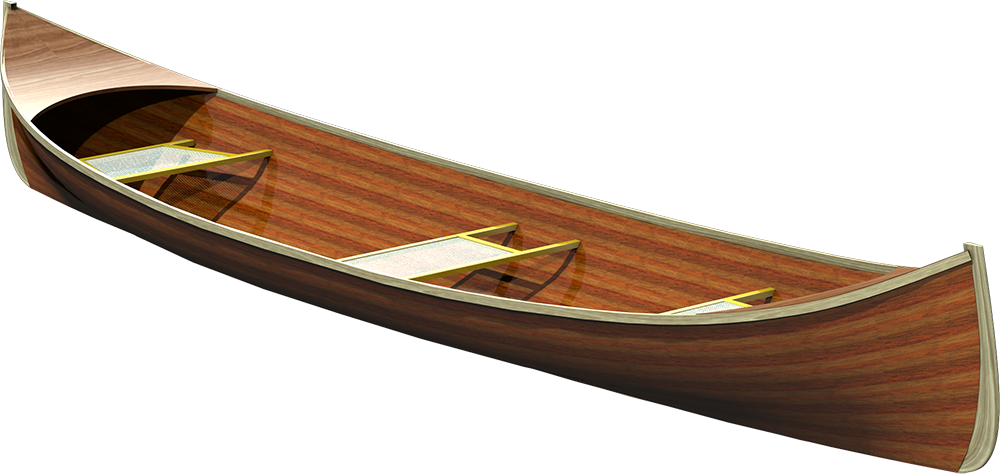 Traditional Adirondack Guide Boat Cedar Strip Plans