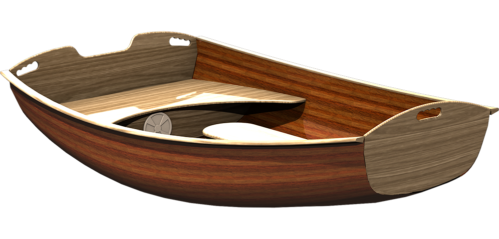 Coot strip planked Dinghy Boat Tender Plans