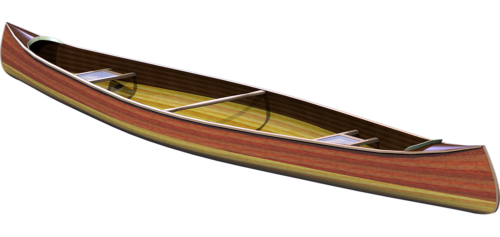 Mystic River Tandem Cedar Strip Canoe Plans
