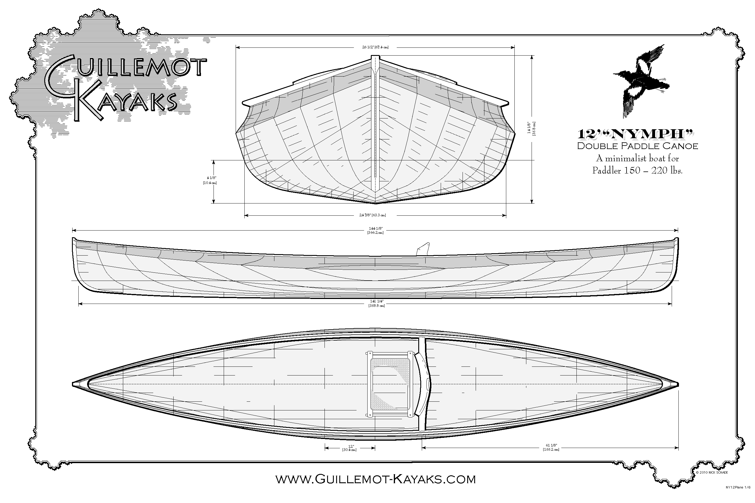 Nymph 12-foot pack canoe plans